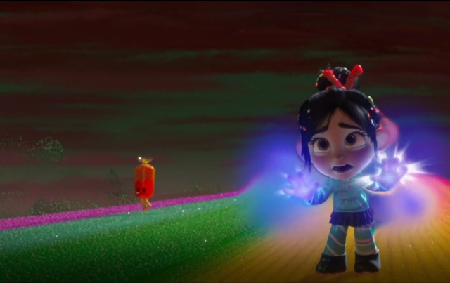 In the world of Wreck-It Ralph, glitches can't leave their games.