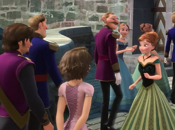 combined Frozen and tangled