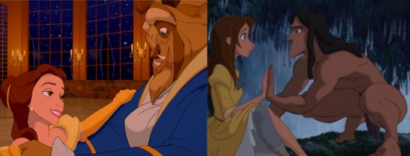 tarzan�s jane is descended from beauty and the beast�s