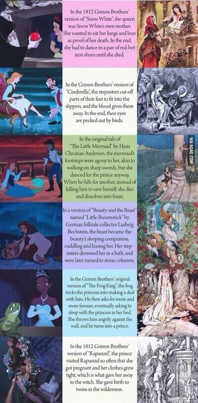 The True Endings Of Disney's Fairy Tales | DisneyTheory com